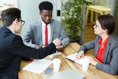 Conducting Negotiations with Business Partners Royalty Free Stock Photos