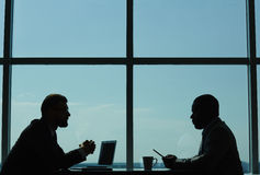 Conducting Negotiations in Modern Boardroom Royalty Free Stock Image