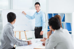 Conducting presentation Stock Image