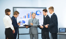 conducting presentations to partners Stock Photography
