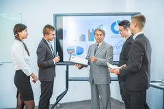 conducting presentations to partners Stock Image
