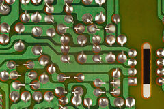 Conductive tracks on an electronic circuit board from modern device. Conductive tracks on an electronic circuit board from a modern device Stock Images