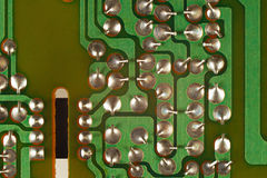 Conductive tracks on an electronic circuit board from radio engineering device. Conductive tracks on an electronic circuit board from a radio engineering device Royalty Free Stock Images