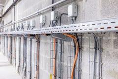 Conducto de cable eléctrico Fotografía de archivo