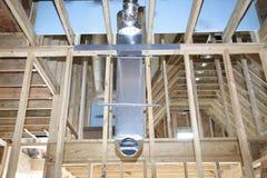 Conducto de la HVAC para Ventillation casero fotos de archivo
