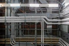 Conducto y tubos industriales Fotos de archivo