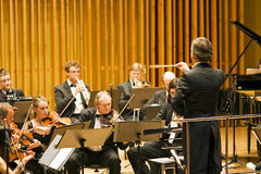 Conductor. Macieja Zółtowskiego Conductor Chamber Orchestra, Music Schools from Radom.The inaugural concert for the opening of a new concert hall Photo