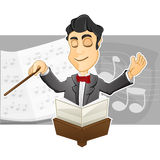 Conductor. A Conductor is conducting by holding a baton Royalty Free Stock Photography
