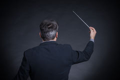 Conductor back to camera Royalty Free Stock Images