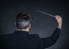 Conductor back to camera Royalty Free Stock Photo