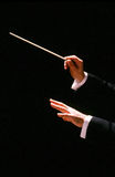 Conductor with baton royalty free stock photo