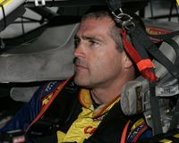 Conductor Bobby Labonte de NASCAR fotografía de archivo