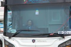 Conductor Bus de la mujer de la compañía de Sombattour Imágenes de archivo libres de regalías