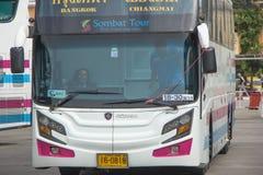 Conductor Bus de la mujer de la compañía de Sombattour Fotografía de archivo libre de regalías