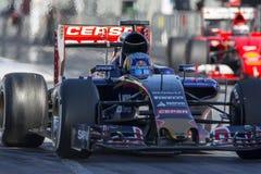Conductor Carlos Sainz Team Toro Rosso Imágenes de archivo libres de regalías