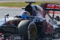 Conductor Carlos Saiz Team Toro Rosso Foto de archivo libre de regalías