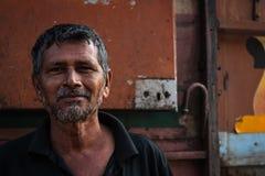 Conductor de camión en la India Imagenes de archivo