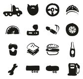 Conductor de camión Icons Freehand Fill Imágenes de archivo libres de regalías