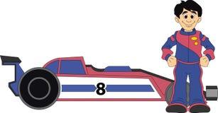 Conductor de coche de carreras stock de ilustración
