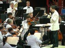 Conductor de la orquesta sinfónica de Colorado   Foto de archivo libre de regalías