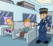 Conductor de tren que asiste con recorrido