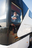 Conductor del autobús fotografía de archivo libre de regalías