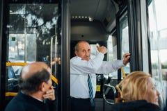 Conductor del autobús turco fotografía de archivo