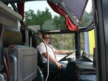 Conductor del autobús Foto de archivo libre de regalías