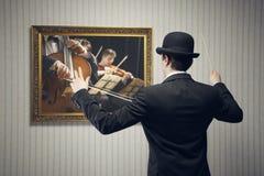 Conductor del concierto Imágenes de archivo libres de regalías