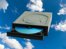 Conductor del DVD Imagenes de archivo