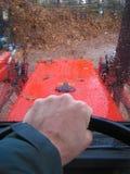 Conductor del tractor fotografía de archivo libre de regalías
