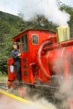 Conductor del tren en Tierra del Fuego Fotos de archivo libres de regalías