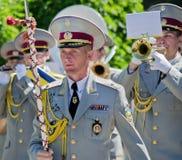 Conductor, director, cabeza de la banda de metales militar. fotos de archivo libres de regalías