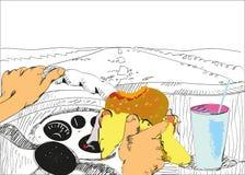 Conductor Eating ilustración del vector