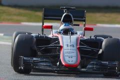 Conductor Fernando Alonso Personas McLaren Fotos de archivo libres de regalías