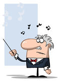 Conductor holds baton Stock Photos