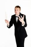 Conductor joven de la música Foto de archivo libre de regalías