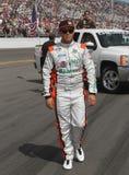 Conductor Juan Carlos Blum de NASCAR foto de archivo libre de regalías