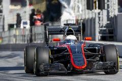 Conductor Kevin Magnussen Team McLaren F1 Imágenes de archivo libres de regalías