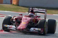 Conductor Kimi Raikkonen Team Ferrari Fotos de archivo libres de regalías