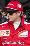 Conductor Kimi Raikkonen Team Ferrari Fotografía de archivo libre de regalías