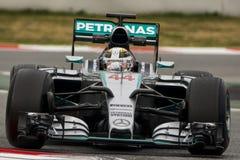 Conductor Lewis Hamilton Team Mercedes Imagen de archivo libre de regalías