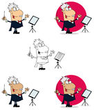 Conductor man. Illustration of conductor man waving his baton Royalty Free Stock Photography