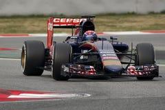 Conductor Max Verstappen Team Toro Rosso Imágenes de archivo libres de regalías