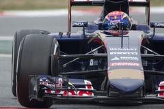 Conductor Max Verstappen Team Toro Rosso Fotografía de archivo libre de regalías