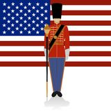 Conductor of of a military band USA Royalty Free Stock Images