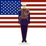 Conductor of of a military band USA-1 Royalty Free Stock Photos