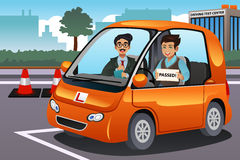 Conductor Passes Driving Test stock de ilustración