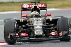Conductor Pastor Maldonado Team Lotus Imágenes de archivo libres de regalías