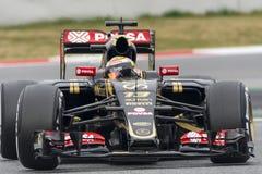 Conductor Pastor Maldonado Team Lotus F1 Imagen de archivo libre de regalías